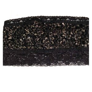 Free People black sequence bandeau. Size Small